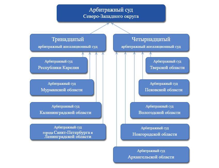 Схема Арбитражной системы Северо-Западного округа