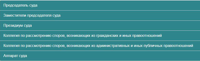 Структура Десятого арбитражного апелляционного суда Москвы