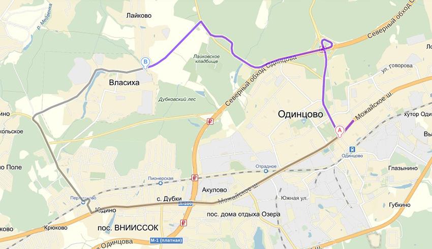 Проезд до 3-го окружного военного суда Московской области