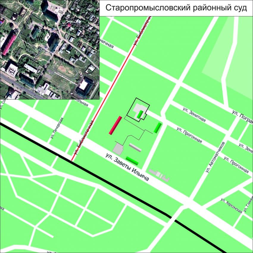 Проезд до Старопромысловского районного суда г. Грозного Чеченской Республики